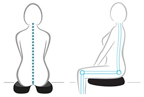 Gerader Rücken durch Sitzkissen